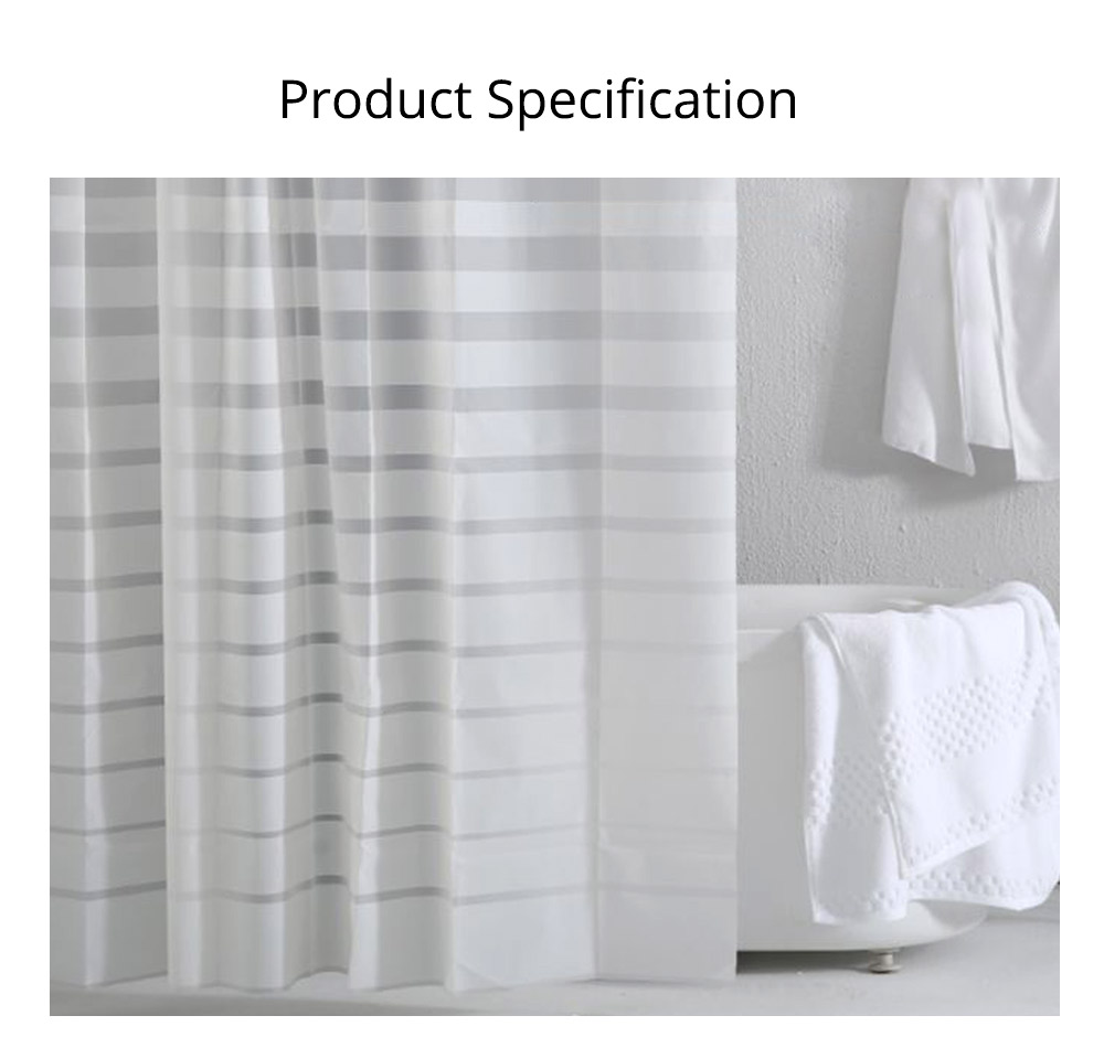Waterproof Non Mildew Shower Curtain PEVA  Environmental Shower Curtain For Bathroom 7