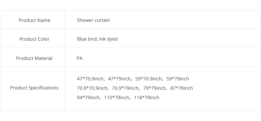 Bird Print Shower Curtain Waterproof And Mildew Shower Curtain For Hotel 7