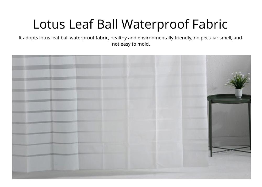 Waterproof Non Mildew Shower Curtain PEVA  Environmental Shower Curtain For Bathroom 2