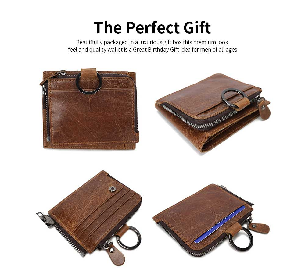 Detachable Wallet with Multi-cards, Wear-resistant First Layer Leather Purse for Men 11