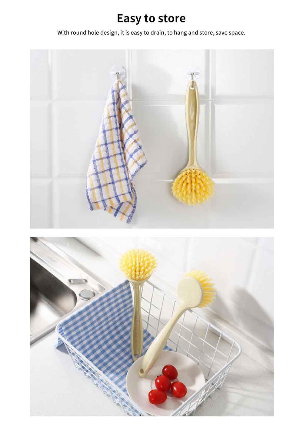 Non Stick Pan Cleaning Brush, Long Handle Brush Pot Artifact 4