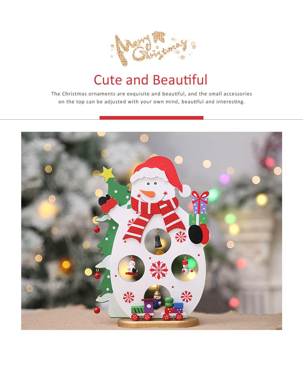 Cartoon Old Man Snowman Desktop Decoration, New Christmas Wooden Decorations 1