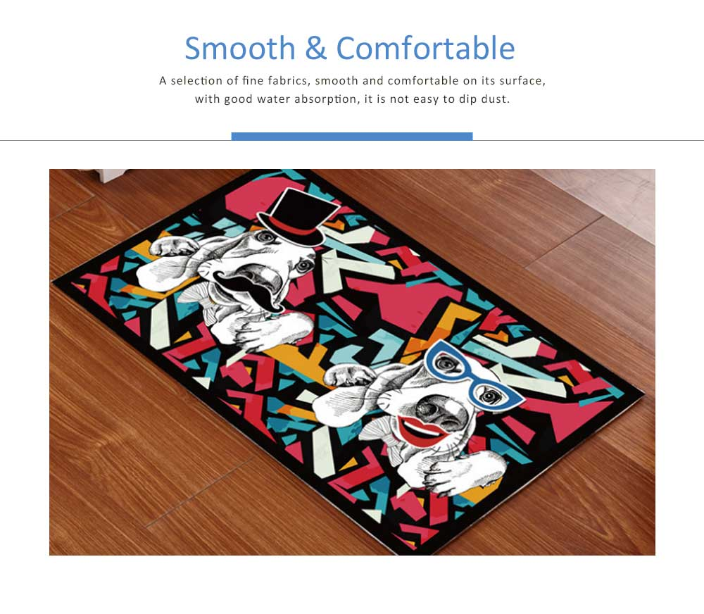 Cartoon Kitchen Porch Bathroom Anti-slip Mat, Bedroom Door Mat Floor Entry Carpet 4