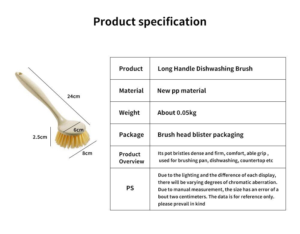 Non Stick Pan Cleaning Brush, Long Handle Brush Pot Artifact 5