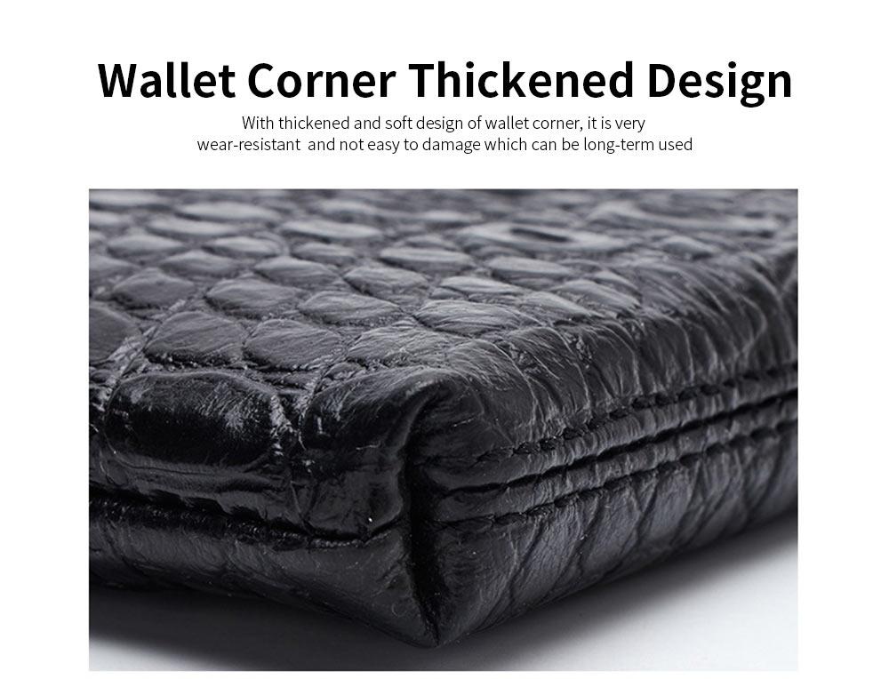 Crocodile Pattern Leather Wallet, Men's Clutch Business Bag 11