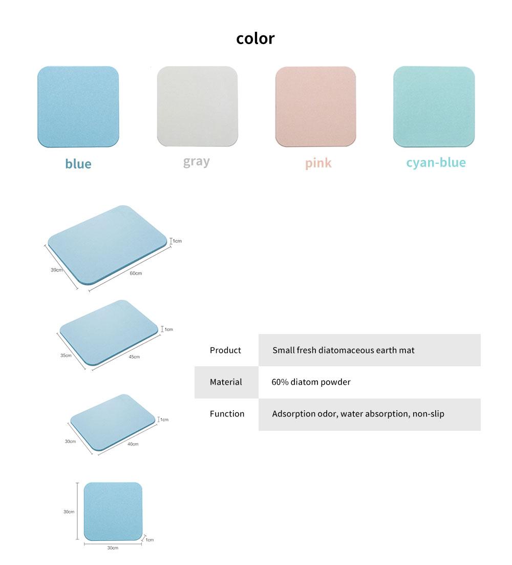 Diatomaceous Earth Mat, Water Absorption Anti-slip Bath mats 6