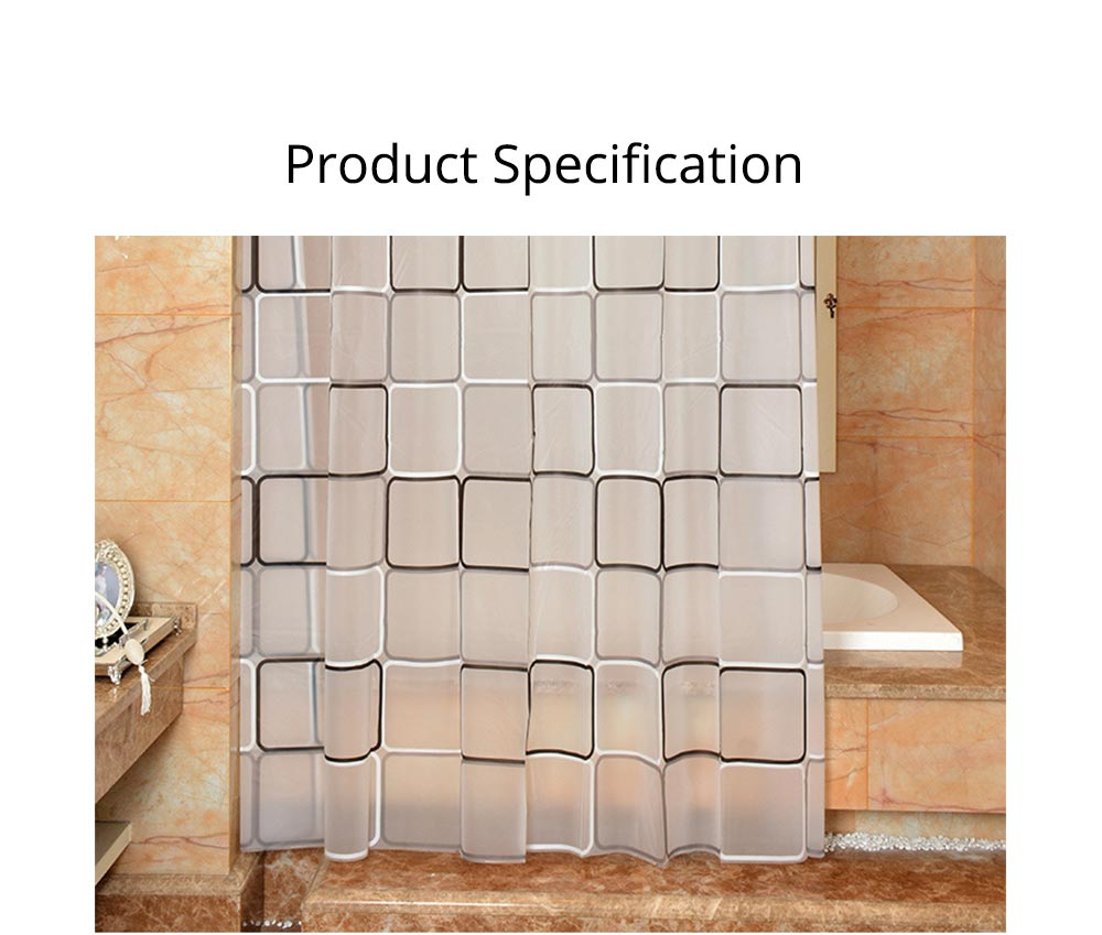 Checkered Bathroom Shower Curtain PEVA Environmental Protection Bathroom Curtain 6