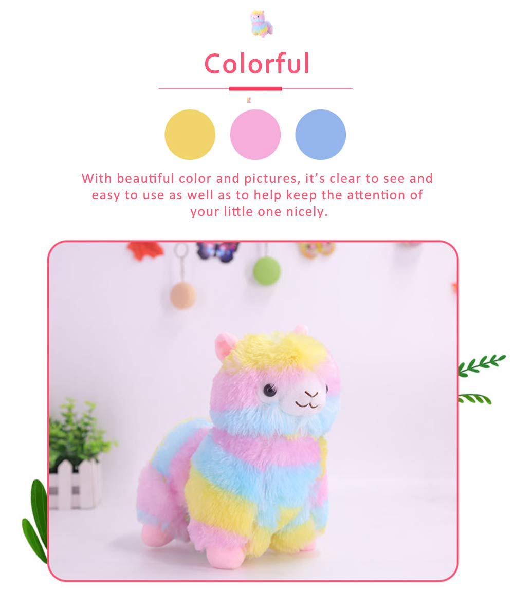 Colorful Grass Mud Horse Toy Doll, Stuffed Plush Animal Toys For Friends and Lovers 5