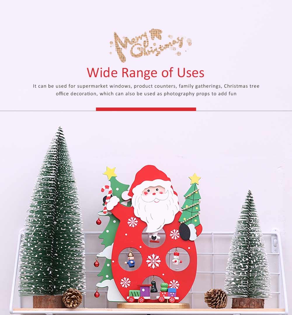 Cartoon Old Man Snowman Desktop Decoration, New Christmas Wooden Decorations 2