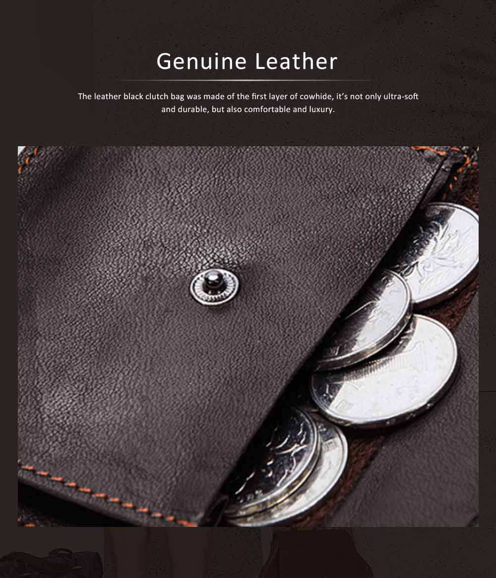 Retro Motorcycle Leather Zipper Purse, Men's Wear-resistant Leather Short Wallet with Stitching and Tri-fold Design 2