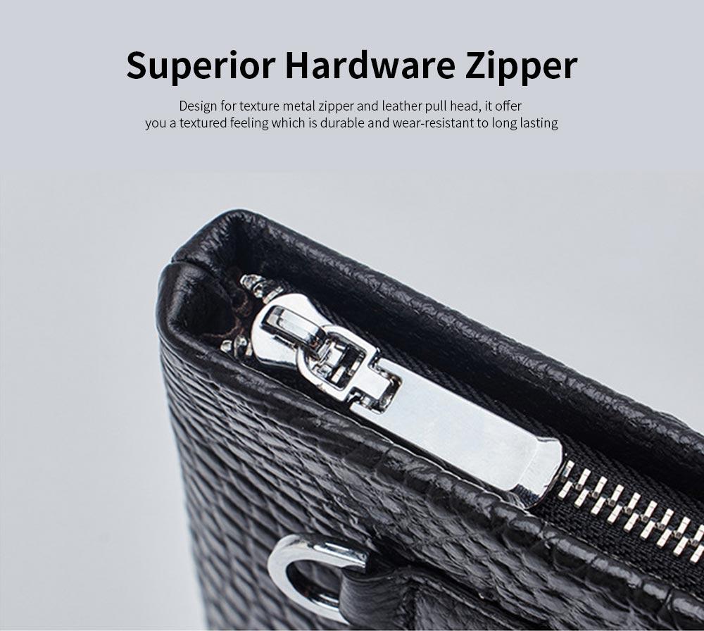 Crocodile Pattern Leather Wallet, Men's Clutch Business Bag 5