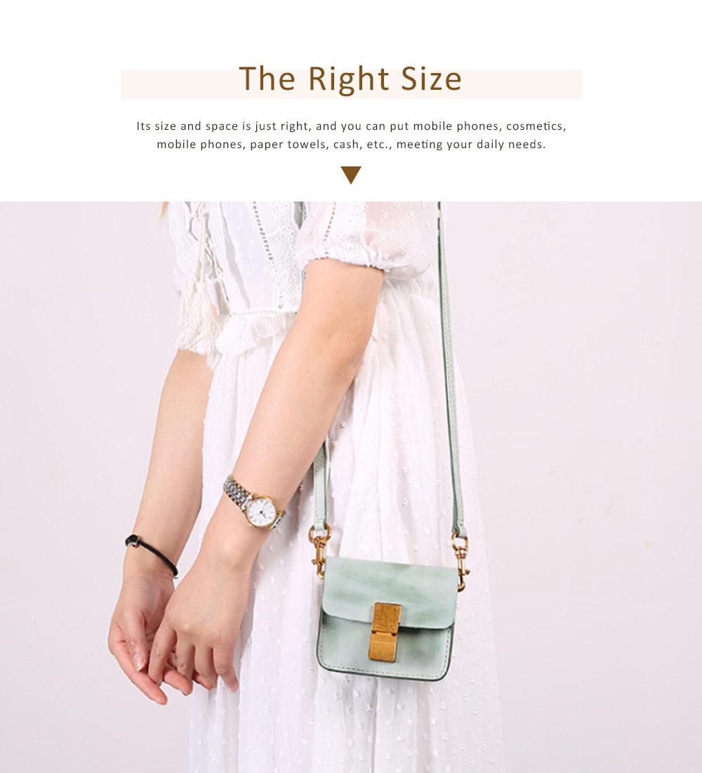 Fashion Mini Shoulder Bag, Retro Handmade Top Cowhide Bag for Women 1