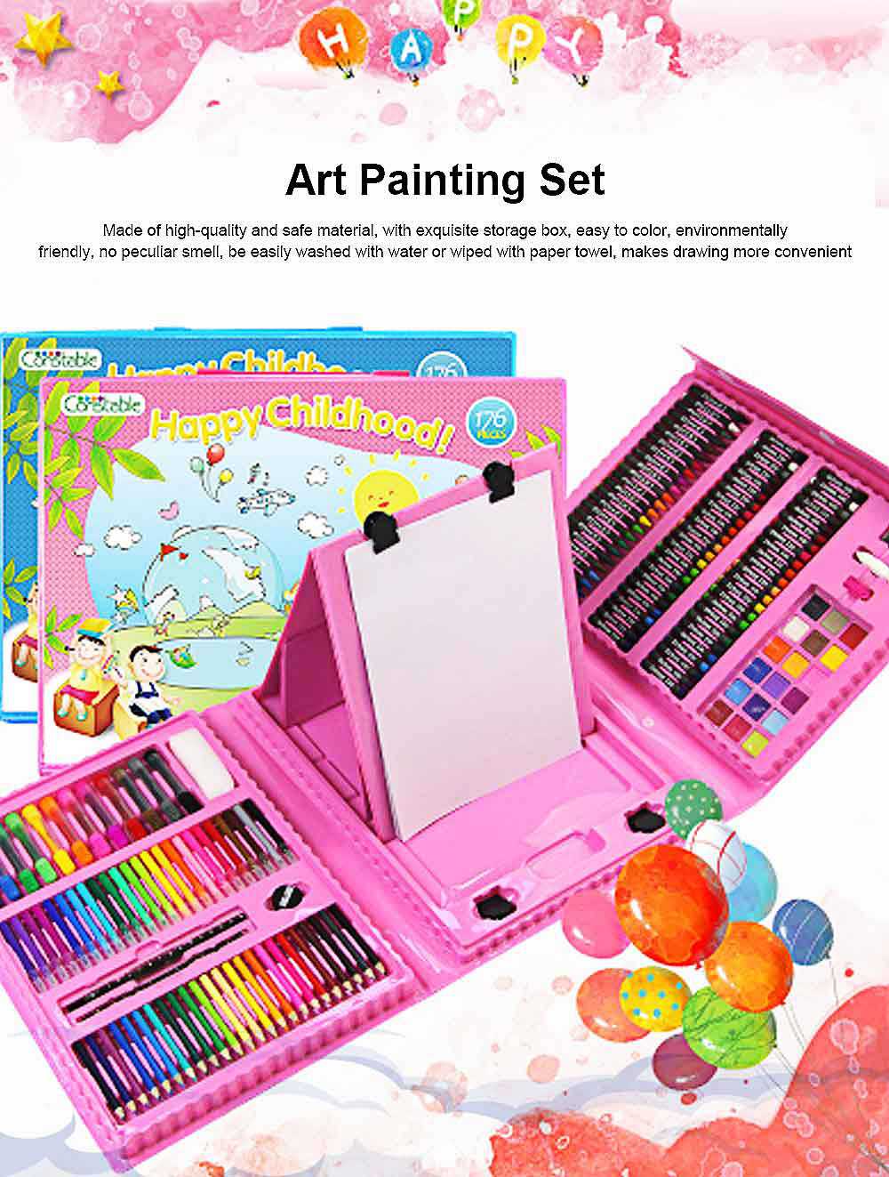 Children's Drawing Stationery, 176 PCS Children Art Painting Set 0