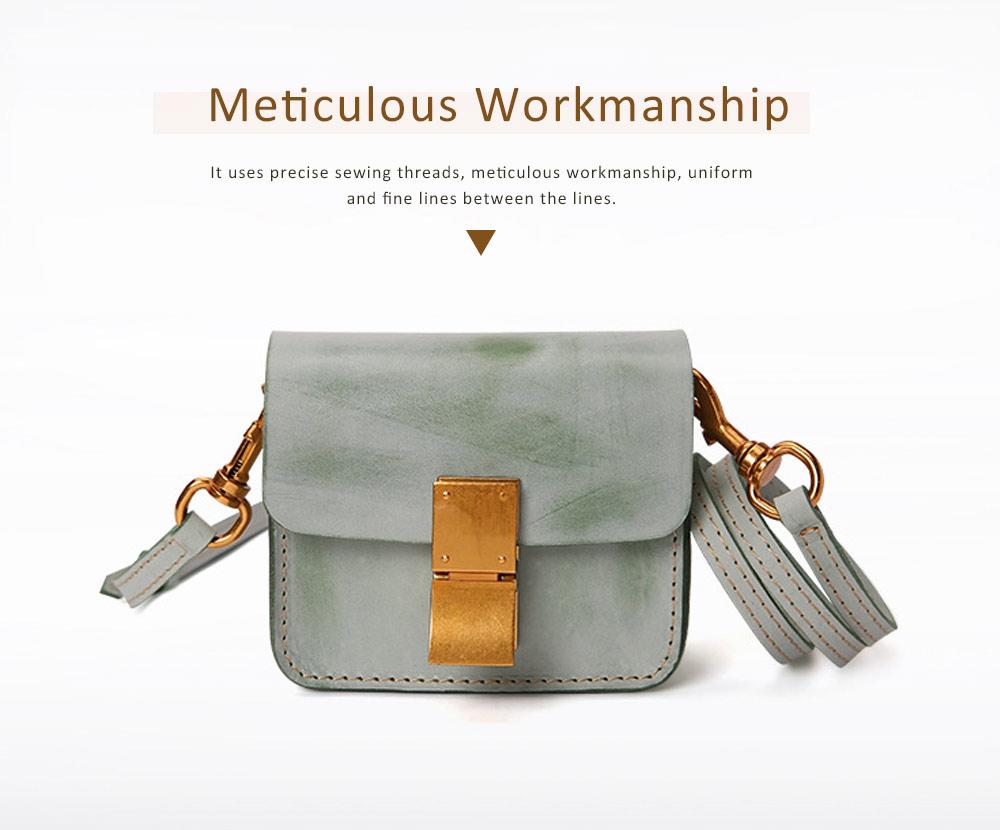 Fashion Mini Shoulder Bag, Retro Handmade Top Cowhide Bag for Women 2