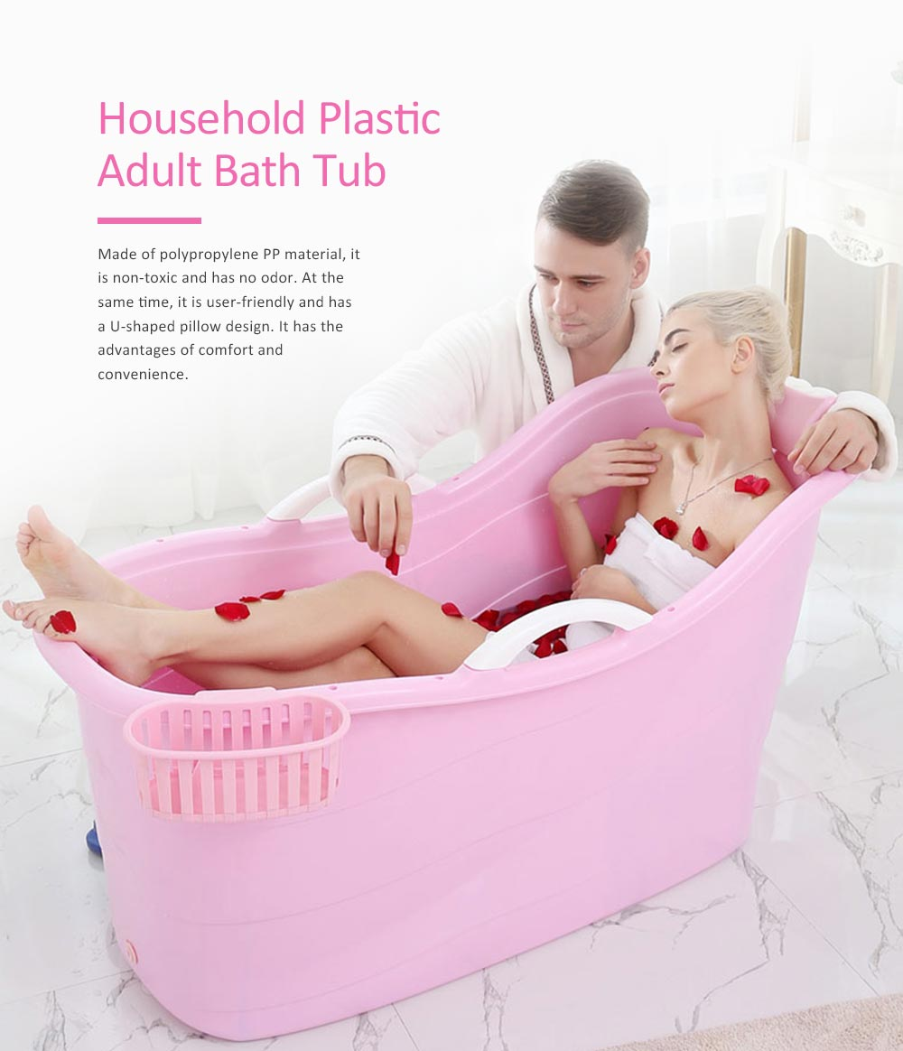 Portable Bathtub For Adults Female Plastic Adult Bath Tub 0