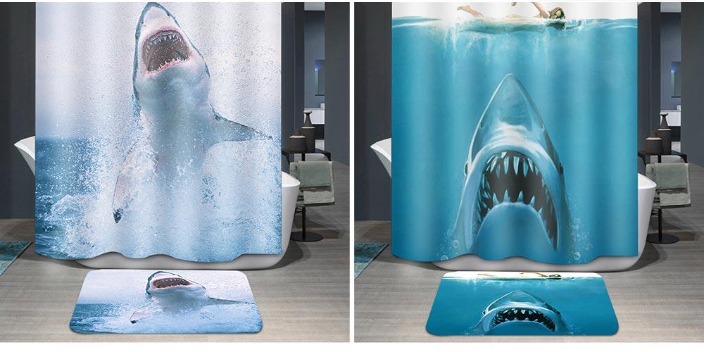 Cartoon Rabbit Shower Curtain, Waterproof American Polyester Shower Curtain 2