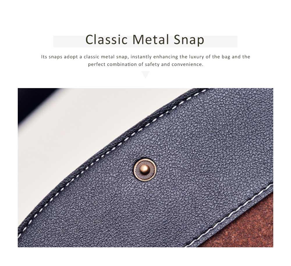 Snake Leather Purse, Sleek Minimalist Buckle Wallet For Ladies 4