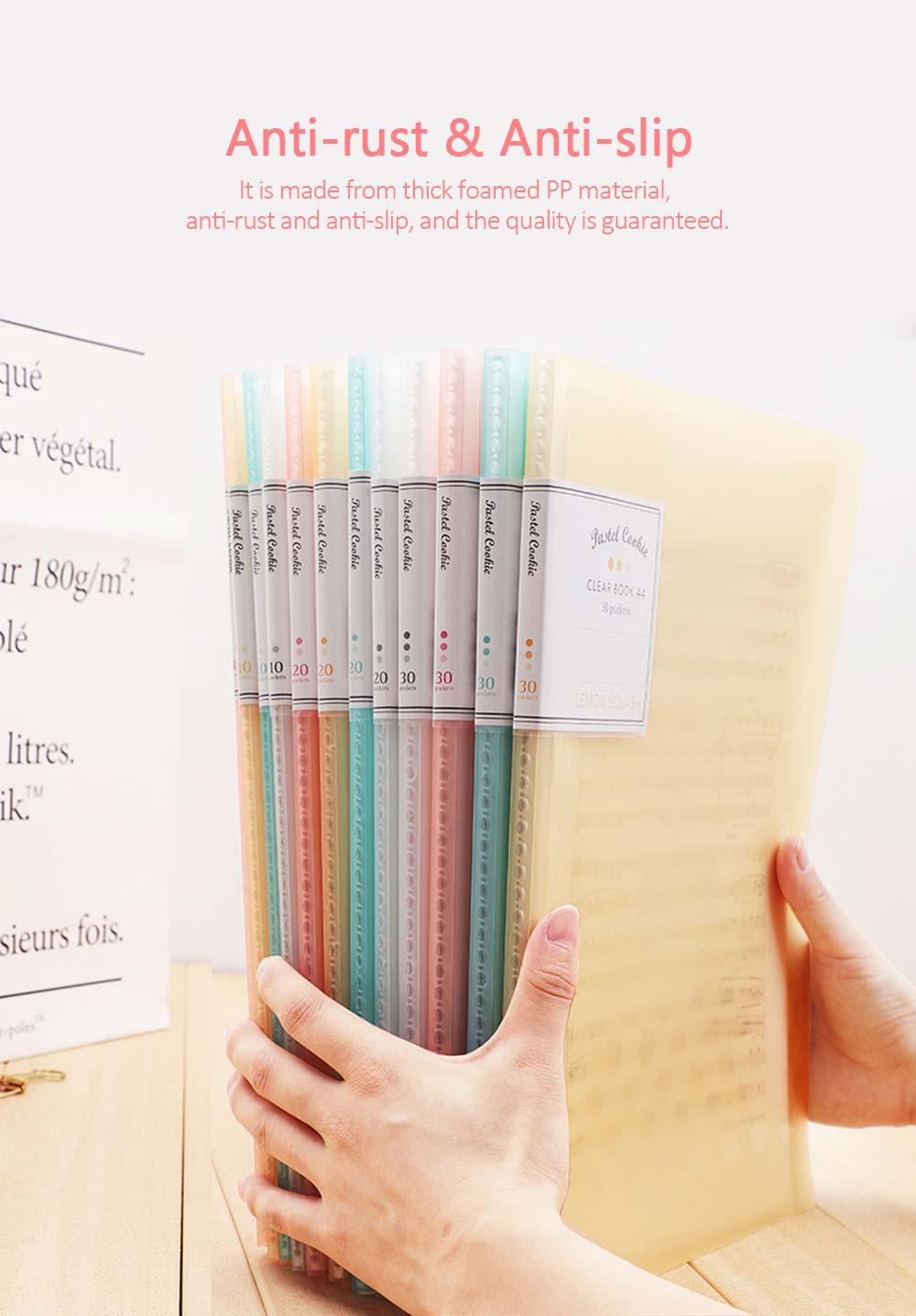 File Sorting Folder, Light Color Cookie A4 File Folder 2