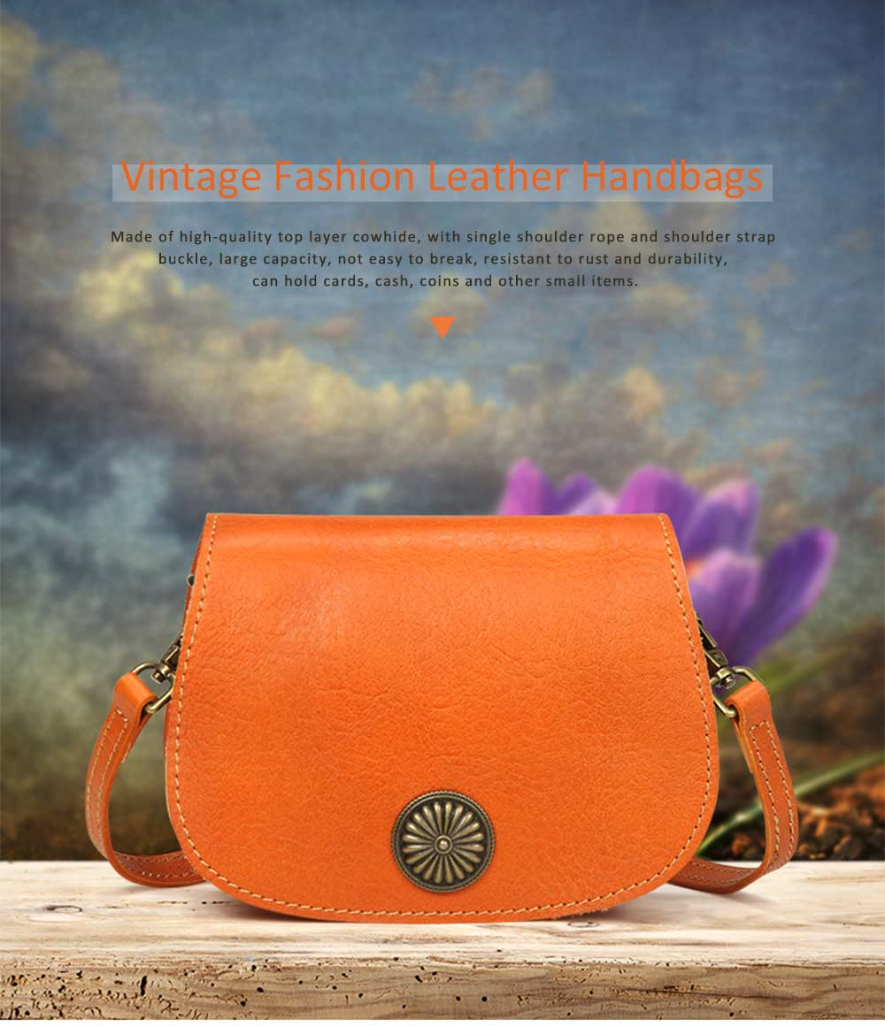 Vegetable Tanned Leather Cross Body Bag, Vintage Leather Satchel Bags 0