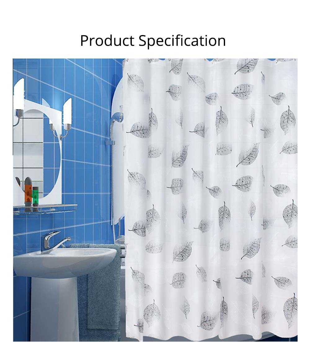 Falling Shower Curtain Mildew and Waterproof PEVA Shower Curtain for Household 6