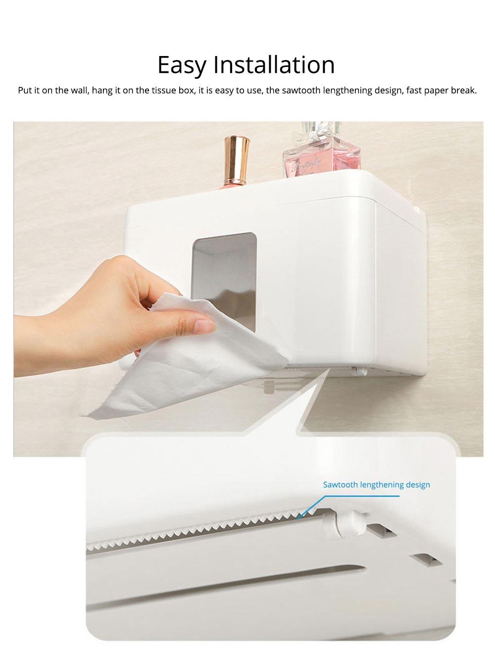 Wall Mount Toilet Paper Rack - Free Punching 6