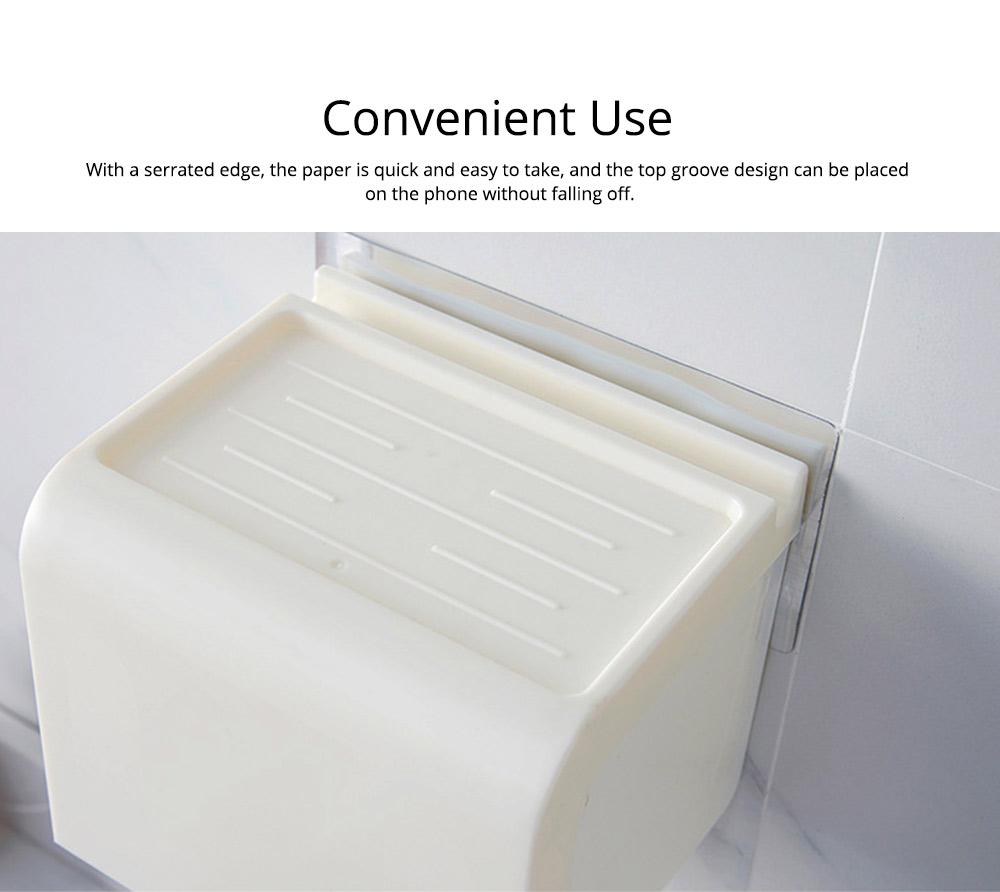 Toilet Paper Rack Holder, Punch-free Bathroom Tissue Box 2