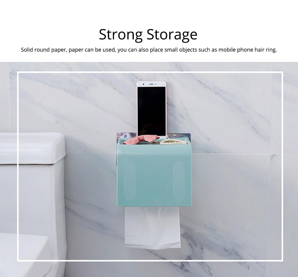 Toilet Paper Rack Holder, Punch-free Bathroom Tissue Box 5