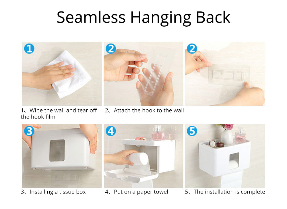 Wall Mount Toilet Paper Rack - Free Punching 9