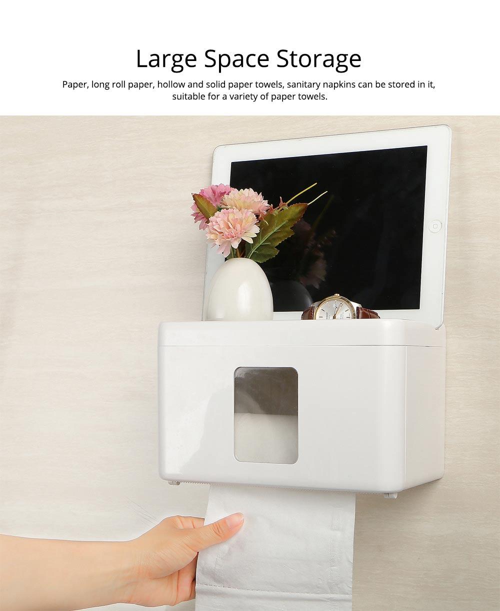Wall Mount Toilet Paper Rack - Free Punching 2