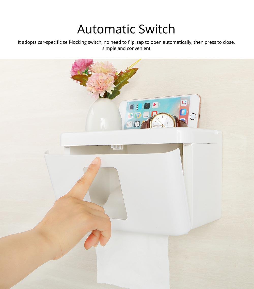 Wall Mount Toilet Paper Rack - Free Punching 5