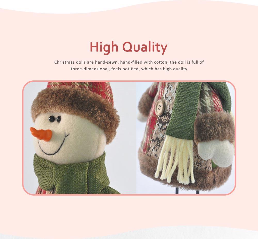 Fabric Santa Claus Figurine, Iron Feet Standing Santa Claus Ornaments 2