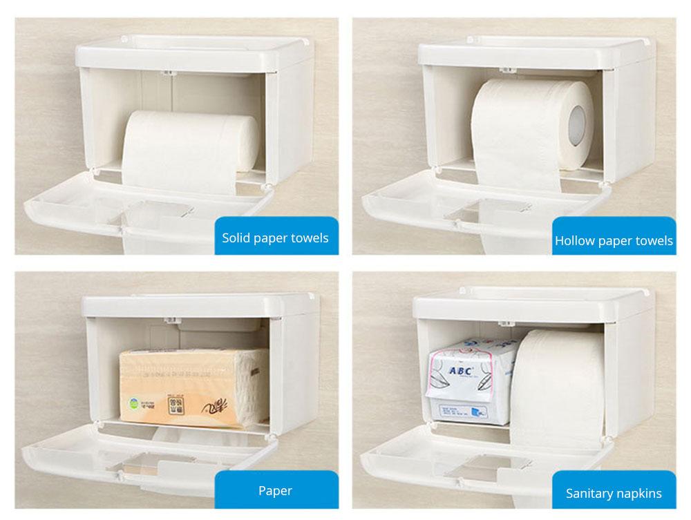 Wall Mount Toilet Paper Rack - Free Punching 3