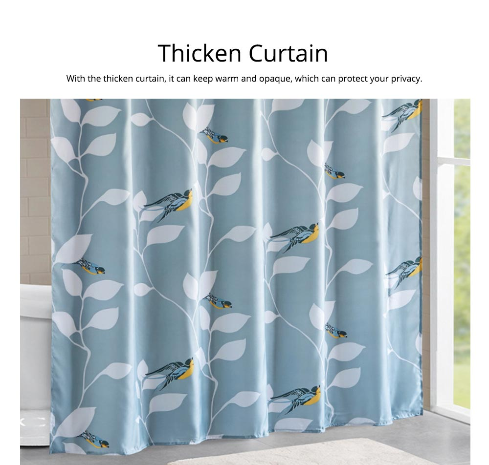 Bird Print Shower Curtain Waterproof And Mildew Shower Curtain For Hotel 2
