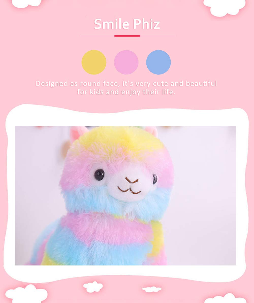 Colorful Grass Mud Horse Toy Doll, Stuffed Plush Animal Toys For Friends and Lovers 3