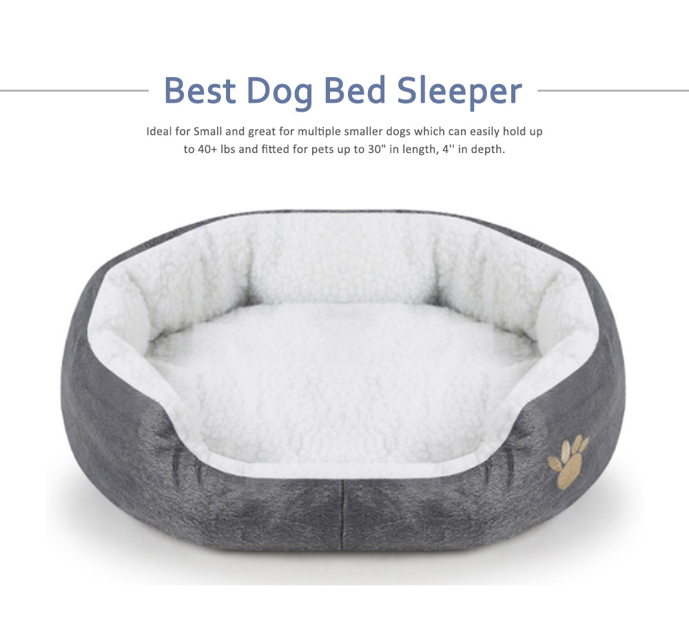 Kennel Ultra-soft Dog Beds, Plush & Lamb Cashmere Washable Cute Peg Beds 5