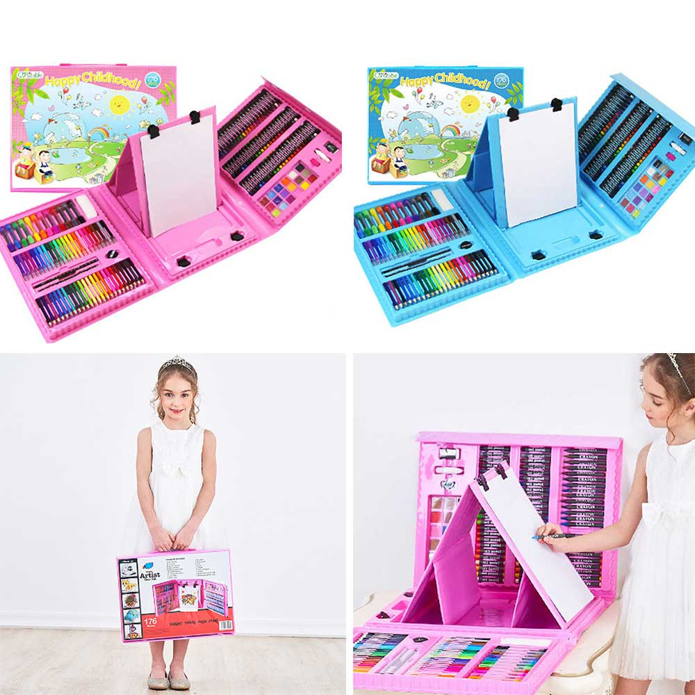 Children's Drawing Stationery, 176 PCS Children Art Painting Set 7