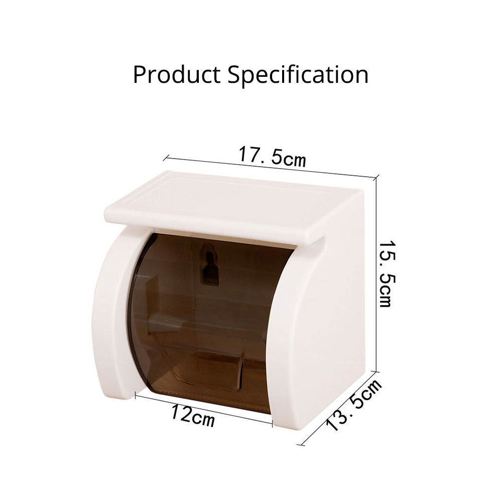 Bathroom Waterproof Toilet Tray Holder, Tissue Box Shelf, Punch-free Roll Holder 8