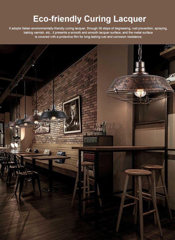 Bar Vintage Chandelier, Retro Chandelier Wrought Iron Light for Restaurant, Cafe 0