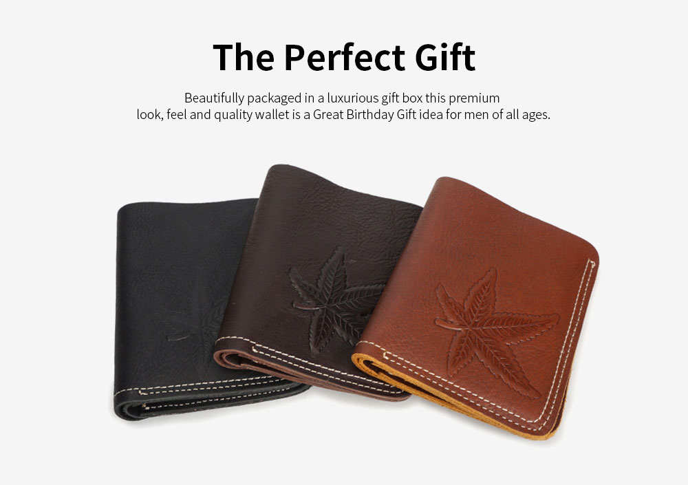 First Layer Genuine Leather Short Wallet for Men with Multi-cards and Two-fold 5