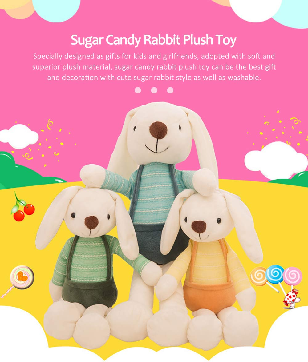 Sugar Candy Rabbit Plush Toy, Super Soft Cuddly Figures for Kids Gift Party Favors 0