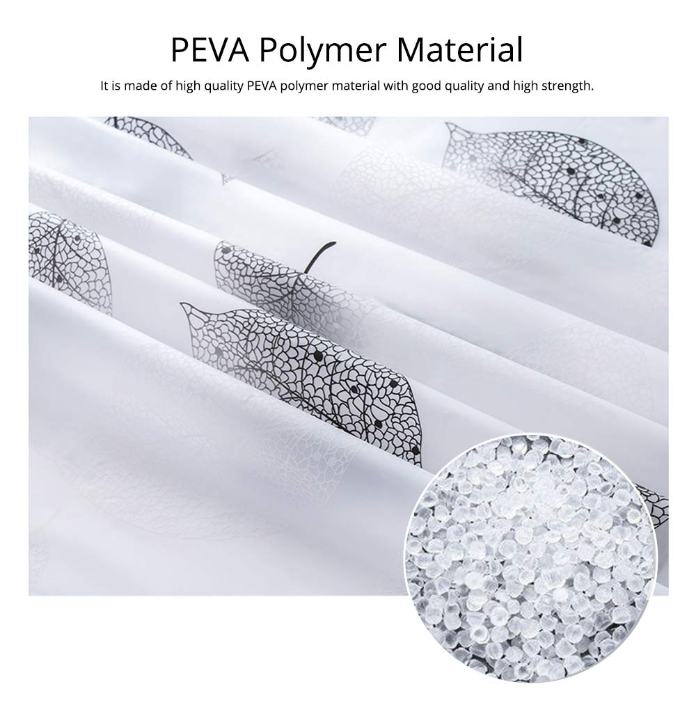 Falling Shower Curtain Mildew and Waterproof PEVA Shower Curtain for Household 4
