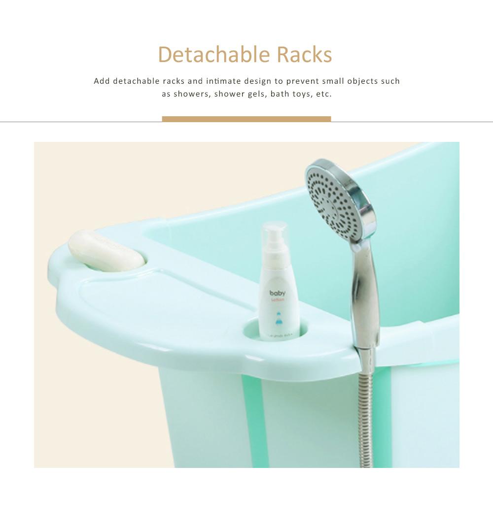 Foldable Child Bath Tub Plus Size Baby Bath Tub with Shelf 1