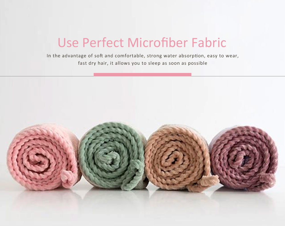 Super Absorbent Hair Drying Cap, Bow Absorbent Coral Velvet Magic Shower Cap 2