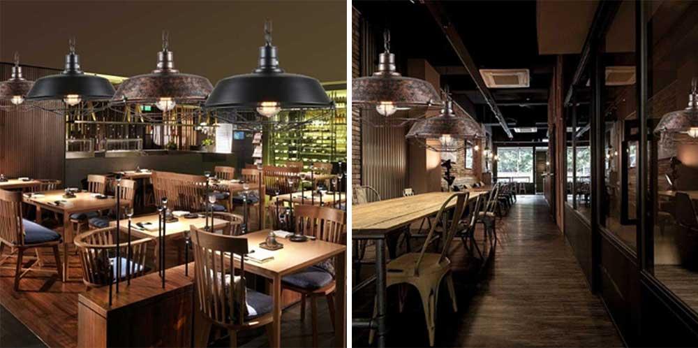 Bar Vintage Chandelier, Retro Chandelier Wrought Iron Light for Restaurant, Cafe 5