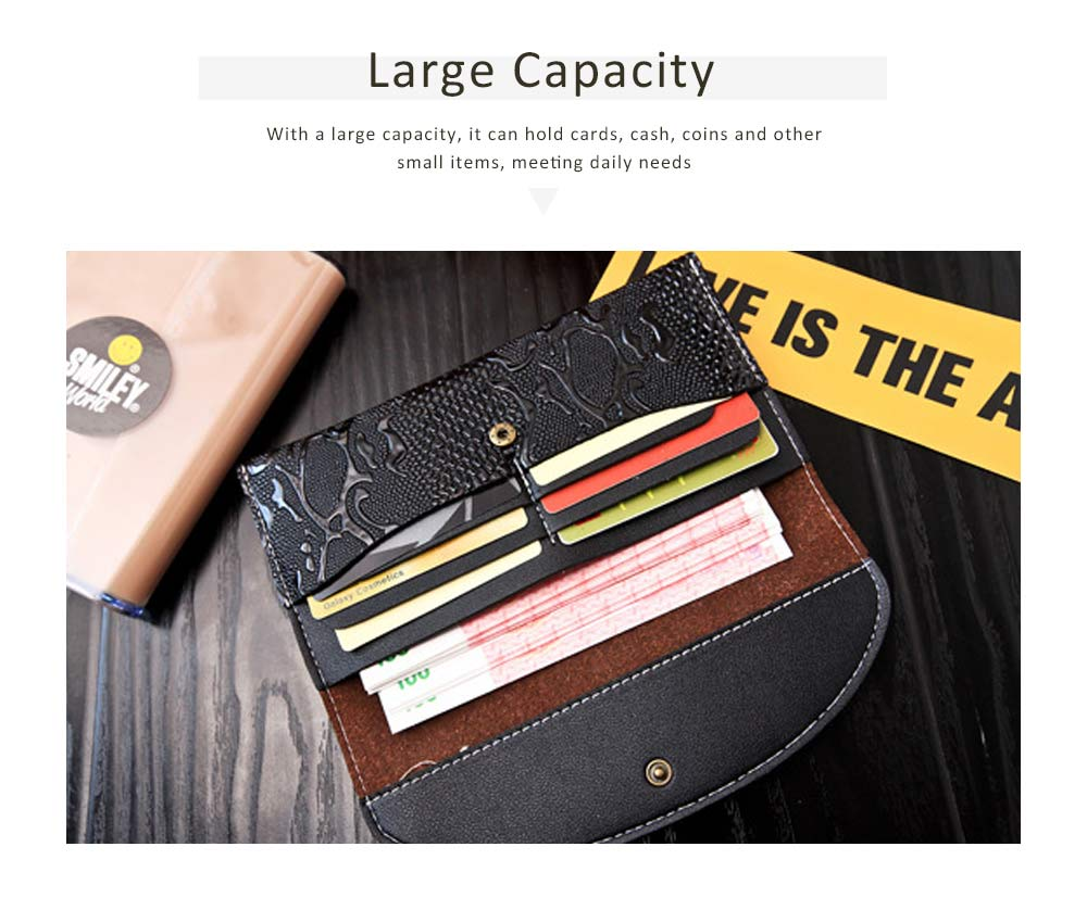 Snake Leather Purse, Sleek Minimalist Buckle Wallet For Ladies 5