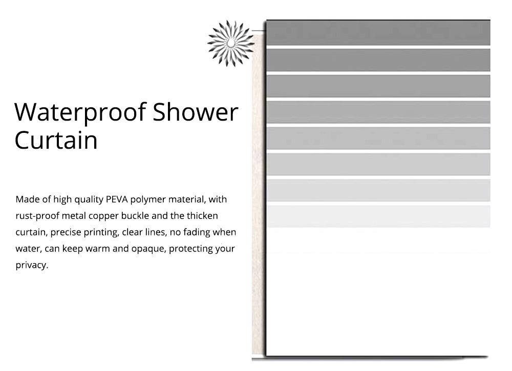 Waterproof Non Mildew Shower Curtain PEVA  Environmental Shower Curtain For Bathroom 1