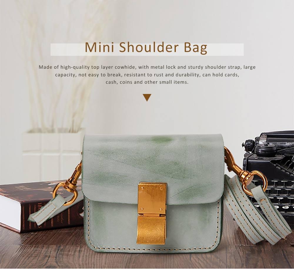Fashion Mini Shoulder Bag, Retro Handmade Top Cowhide Bag for Women 0