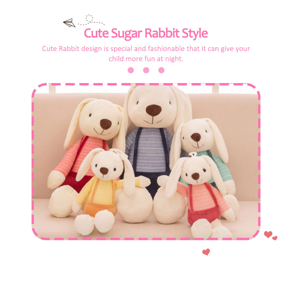 Sugar Candy Rabbit Plush Toy, Super Soft Cuddly Figures for Kids Gift Party Favors 1