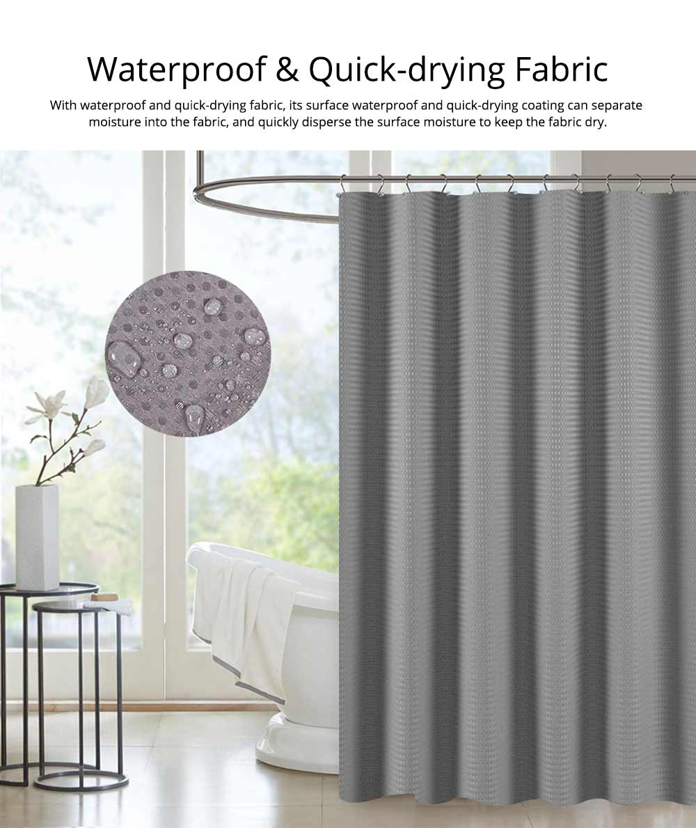 Bathroom Partition Curtains Thicken Waterproof And Mildew Proof Polyester Curtain 4