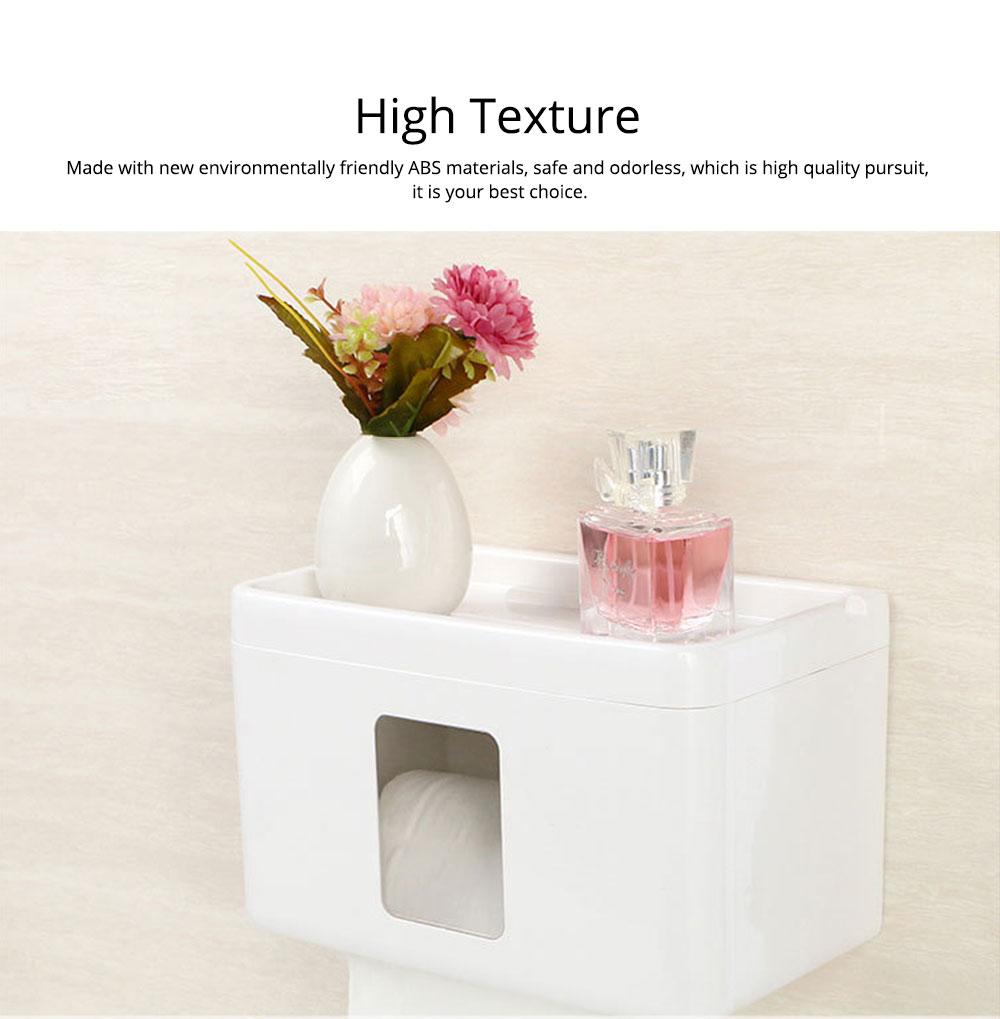 Wall Mount Toilet Paper Rack - Free Punching 1